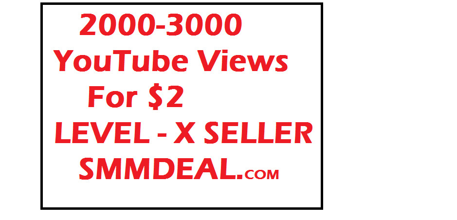 Buy 2000 - 3000 youtube views