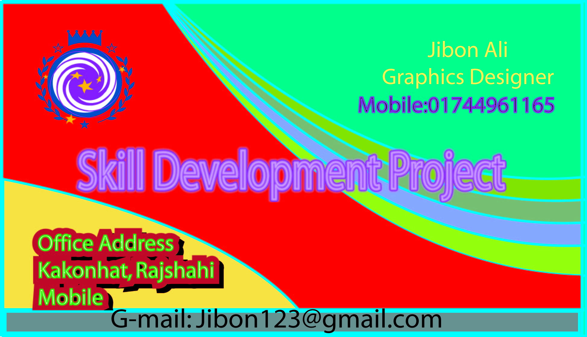 design business card with PSD file for 5