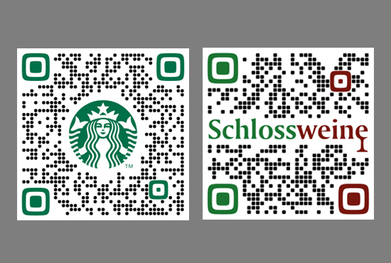 design 2 stylish custom QR Codes