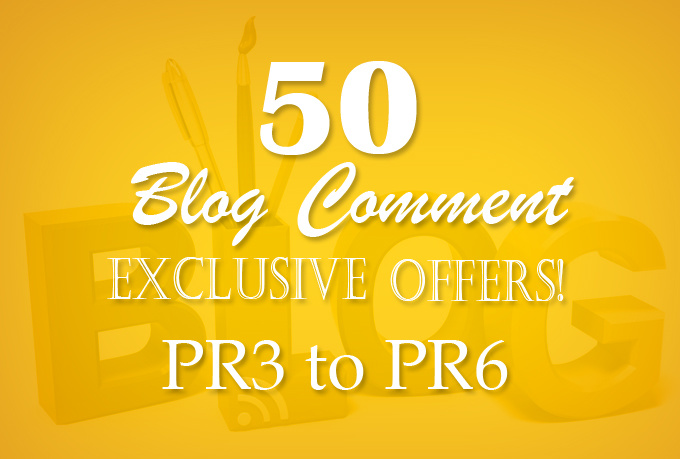 Do 50 Dofollow blog comment with low obl