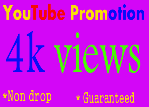 YouTube Promotion Safe 4000-5000 YouTube Views
