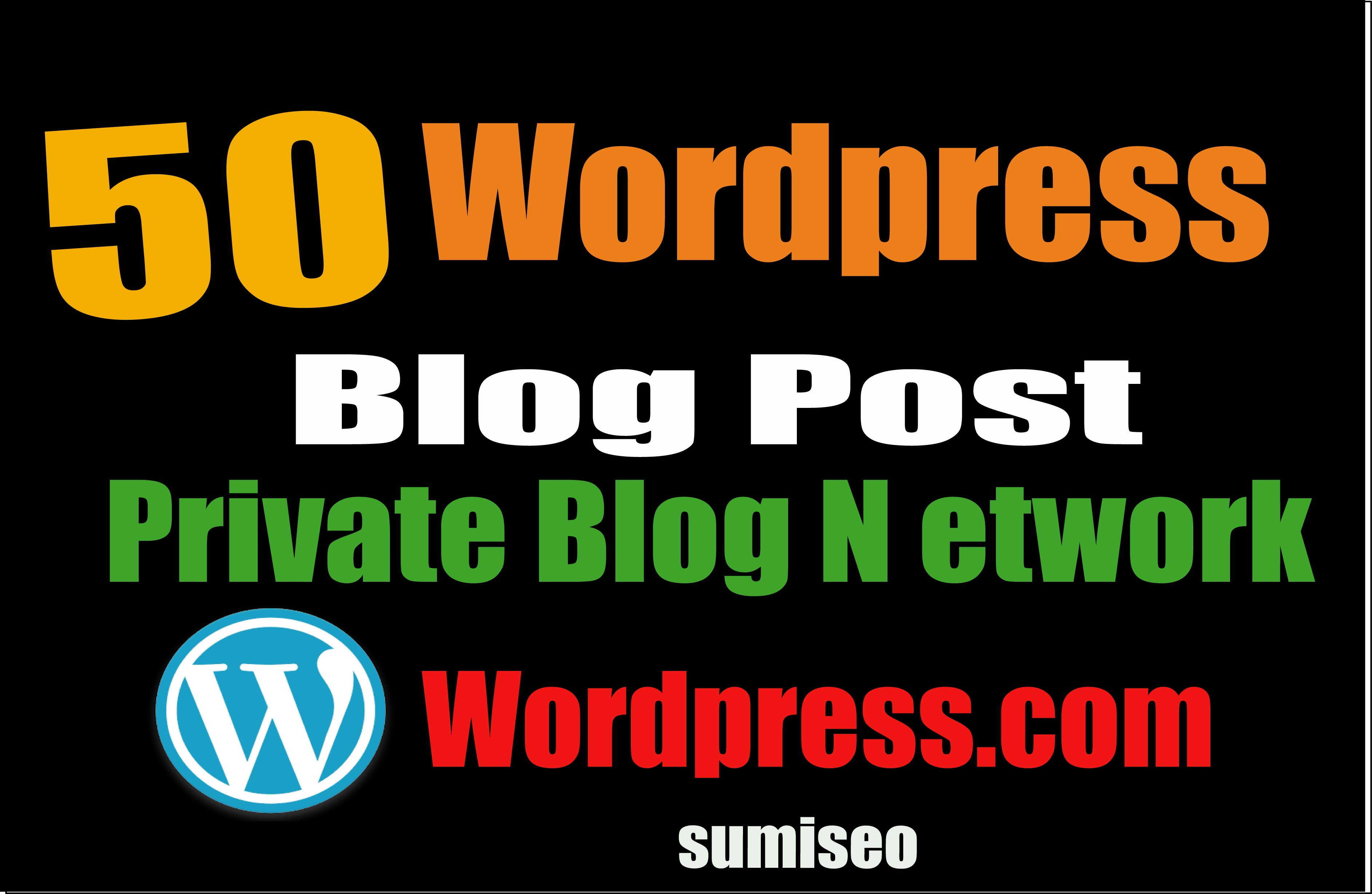 Permanent 50 PBN BLOG POST WordPress for excellent we...