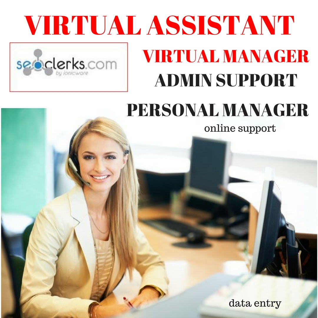 be your virtual manager,virtual assistant manage your online and social media work for 3 days