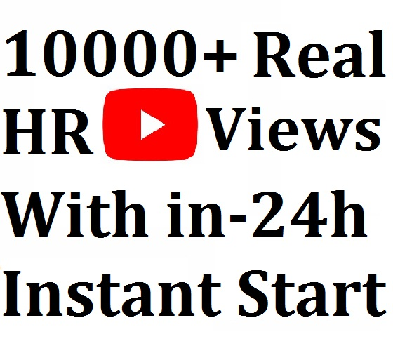 Start Instant 10000-15000 High Quality HR YouTube Viewss To Your Post