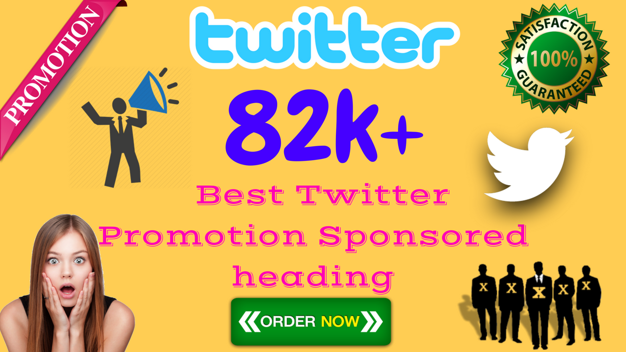 82K+ Best Promotion Sponsored Follow Likes Re-tweets