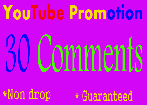 Mini guaranteed offer USA/UK/GERMANY 30 YouTube Custom Comments and 30 Subscribers