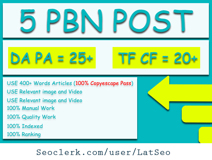 Do 5 DA 50+ Permanent Pbn Post With High Metracis