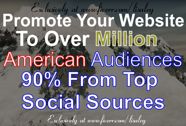 Promote Your Website Or Anything To Million Usa Fans And Followers