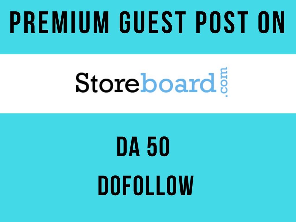 Publish 3 Guest Post on Storeboard DA 50 Dofollow