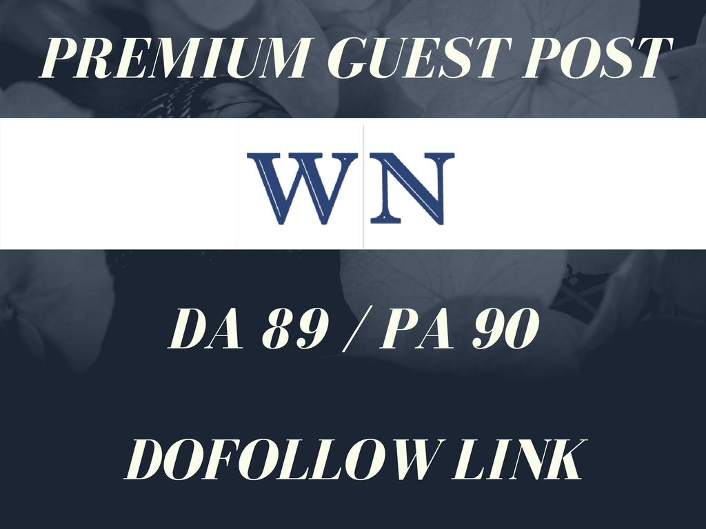 Publish 3 Guest Post on WN DA 89 Dofollow