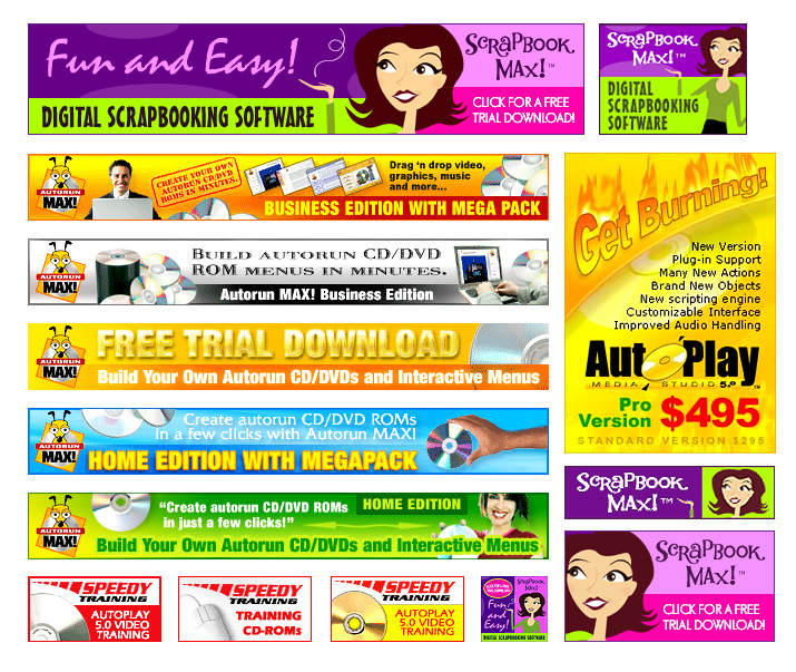 make your web banner for promotion your product