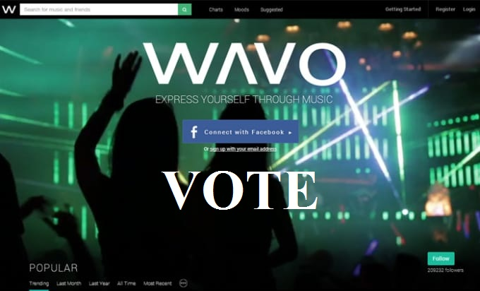 Provide you 40 wavo votes different IPs for your WAVO. ME Remix Contest