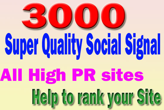 Most Powerful 3000 Social Signals