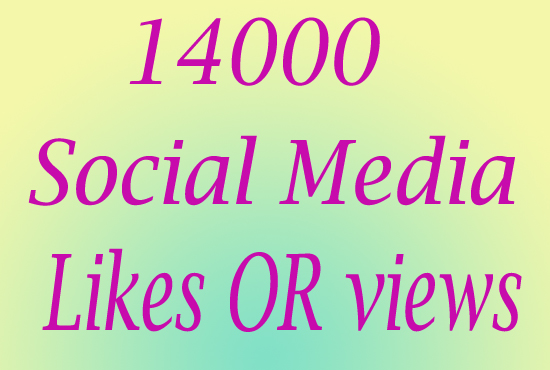 Ultra Fast 14000 Social Media Photo LlKE or Video VlE...