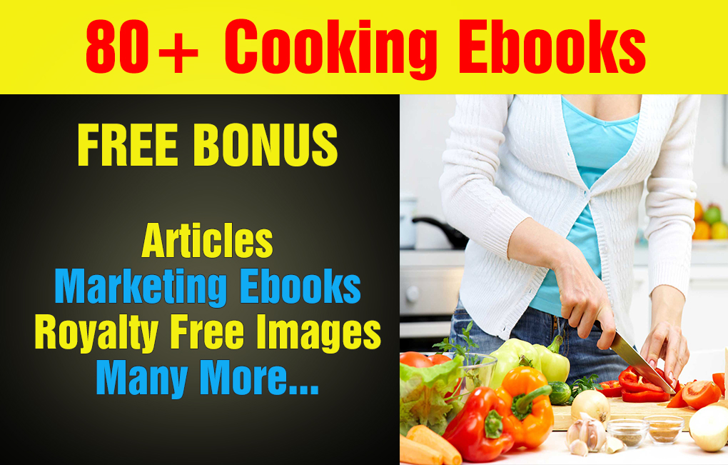 Over 80 Cooking Plr, MRR Ebooks