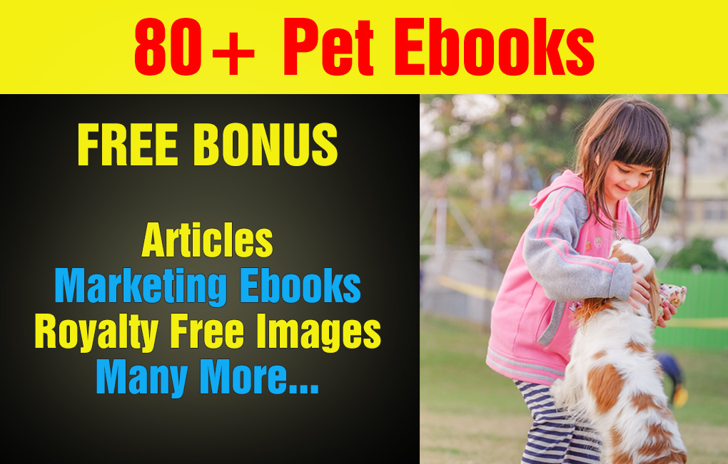 Over 80 Dog And Pet Care Plr Ebooks