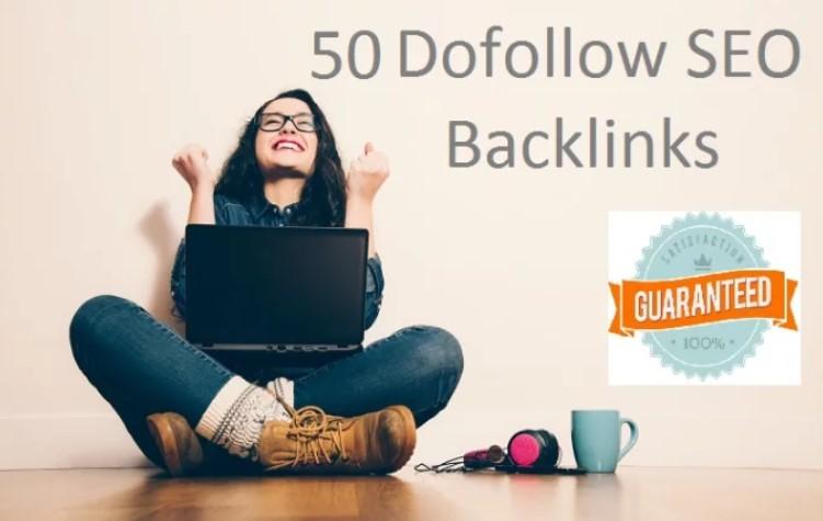 Add 50 SEO Dofollow backlinks