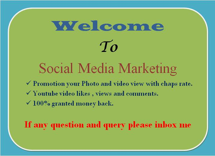 Great Offer 10k Youtube view promotion with non drop