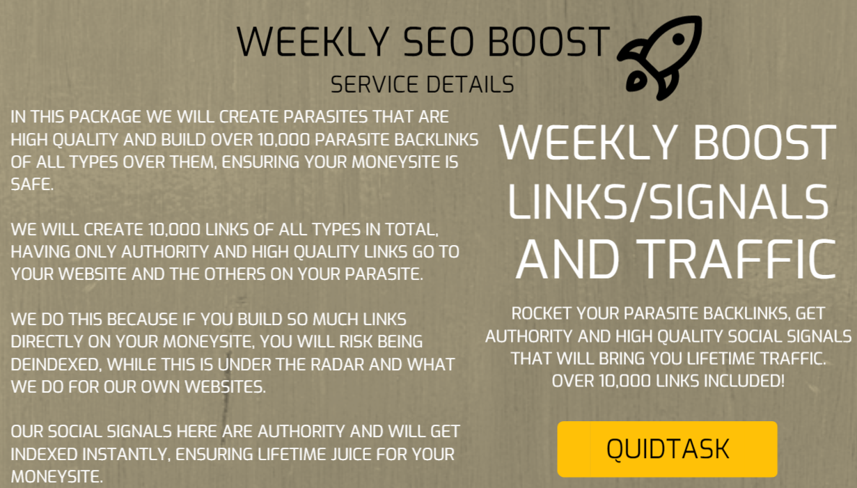 WEEKLY SEO BOOST - Get Backlinks,  Signals and Video Created to boost your RANK and TRAFFIC