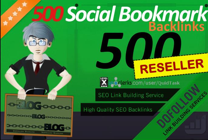 Reseller offer - 1000 Social Bookmarks with Backlink