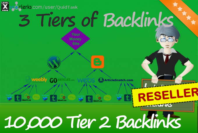 Reseller offer - 10,000 Tier 2 Backlinks for your Link Pyramid with Link Juice