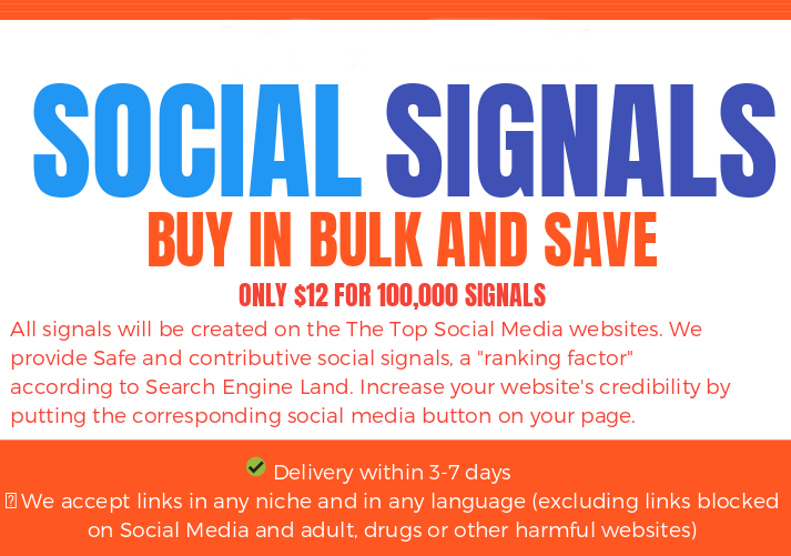 BLACK FRIDAY SALE - 500.000 SOCIAL SIGNALS