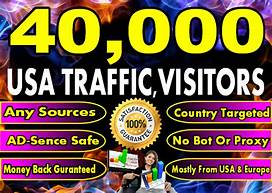 40000++ USA ORGANIC WEBSITE TRAFFIC TRACKABLE WITH GOOGLE ABSENCES