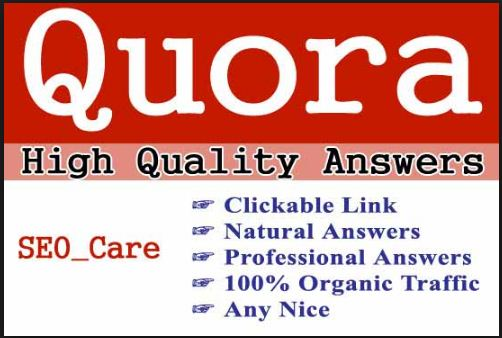 promote your website high quality 15 quora answer service