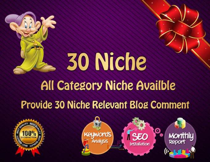 provide 30 niche related blog comment