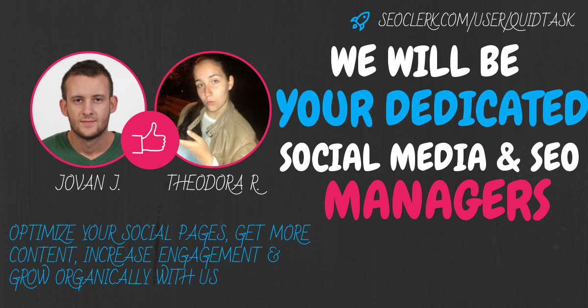 Professional Social Media and SEO Management for 1 mo...