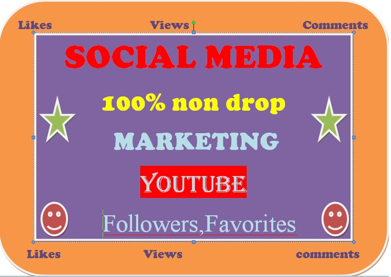 Social Media faster 5k+ you tube views 750+ Likes 100 comments non drop