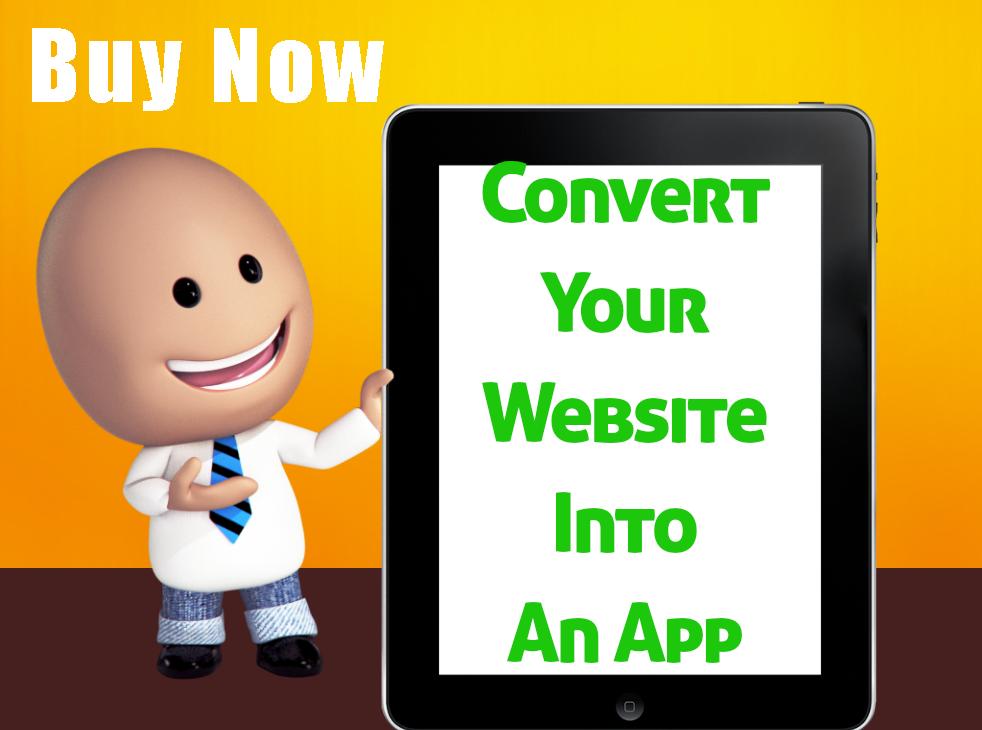 Convert Your Website Into an application
