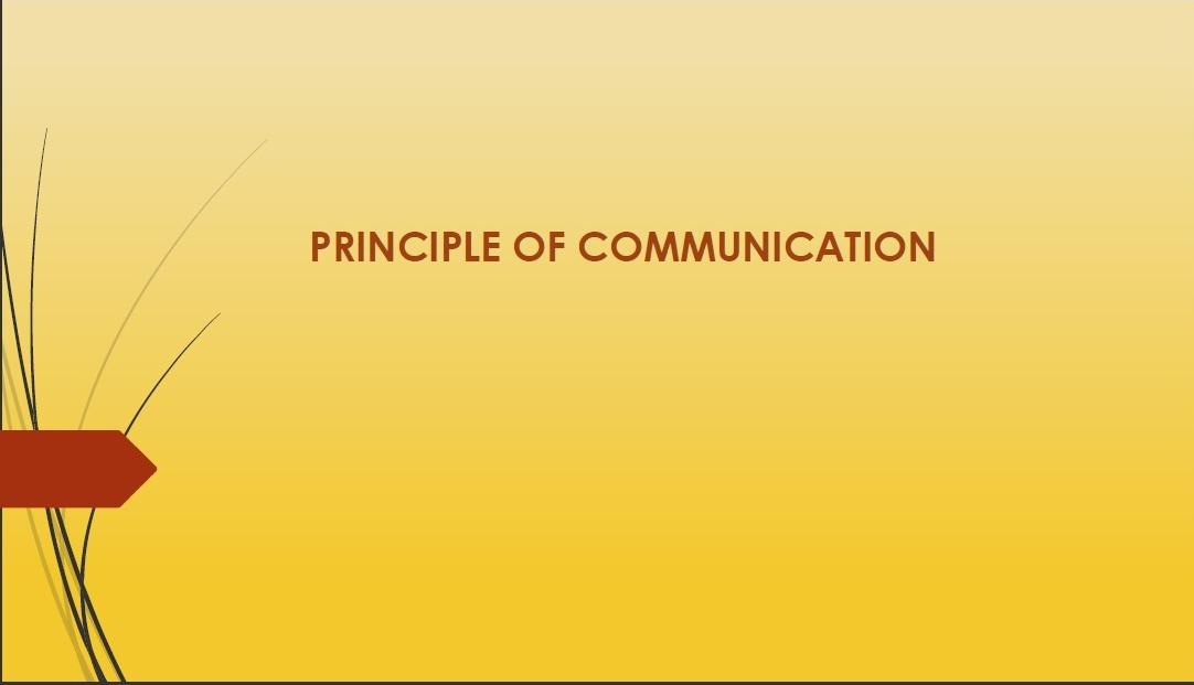 PRINCIPLE OF LATEST COMMUNICATION SYSTEM