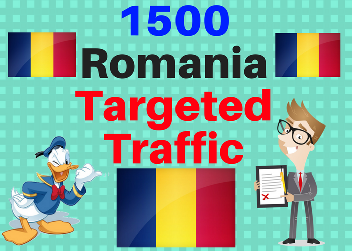1500 Romania TARGETED traffic to your web or blog site. Get Adsense safe and get Good Alexa rank