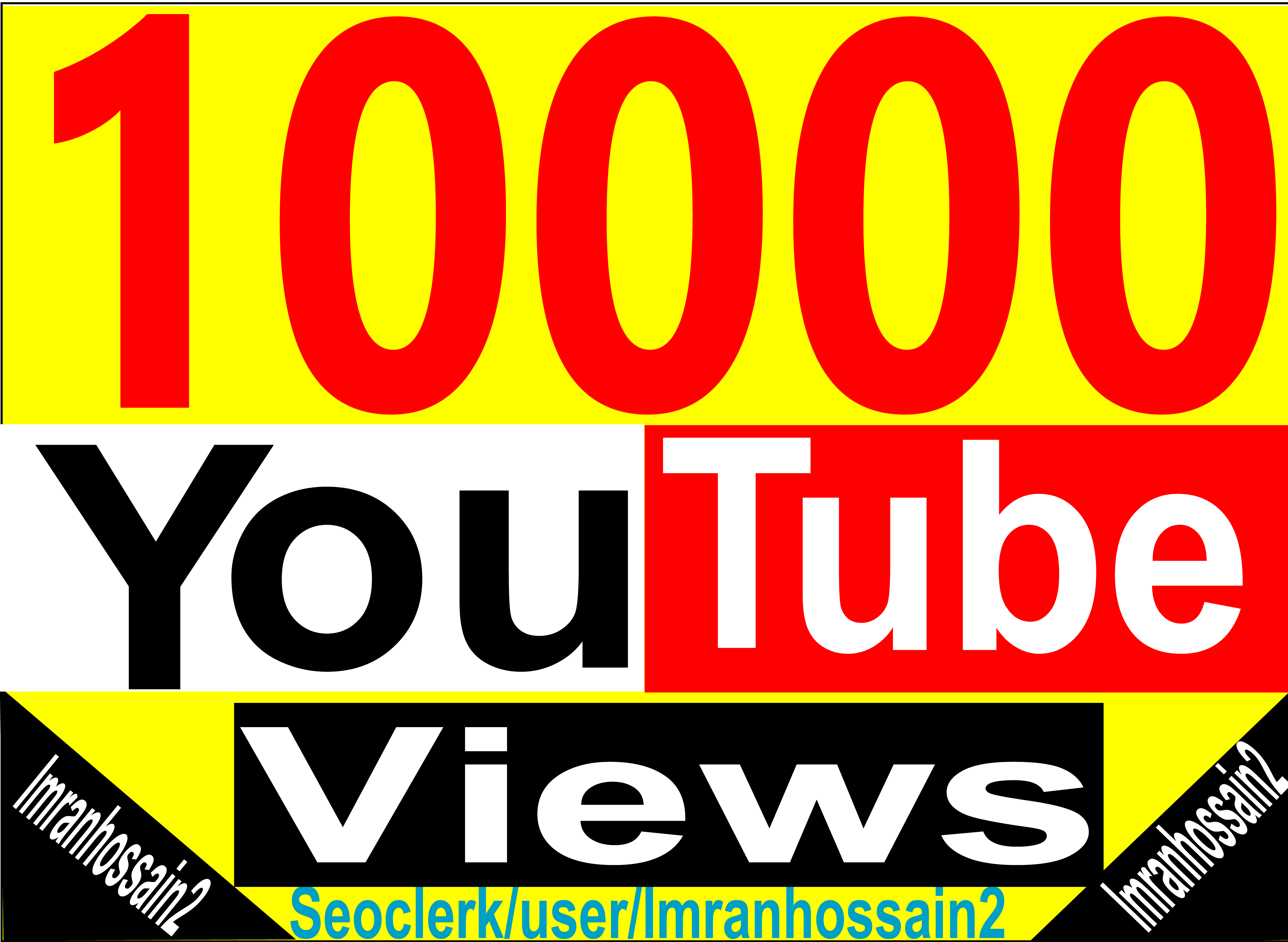 Instant Start Get 5,000+ To 10,000+ HQ Lifetime Guaranteed Youtube High Retention Video Vie ws for your video