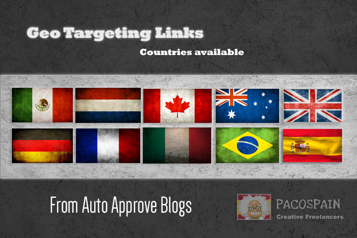 create backlinks, exclusively on country specific do...