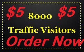 drive 8000+ low bouce rate human traffic for 1 month form target sources
