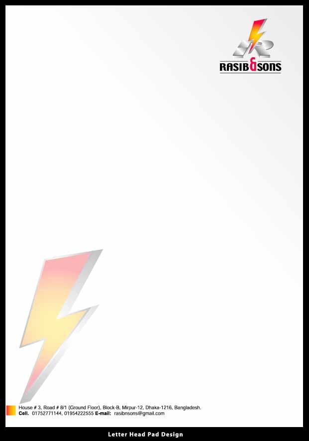PROVIDED Business card & Letterhead pad (par pair)
