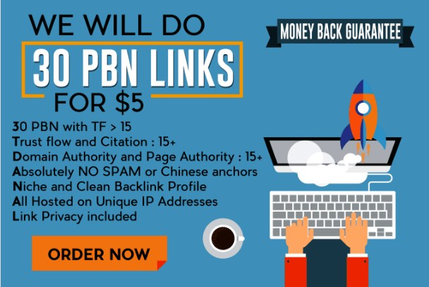 Build 30 Pbn Links Of Superb Metrics For Multi Page 1 Ranks