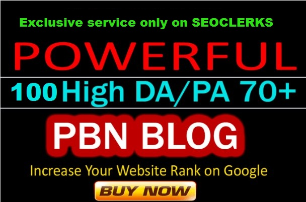 Rank Higher With 100 High DA 70 PA 65+ PBN LINKS