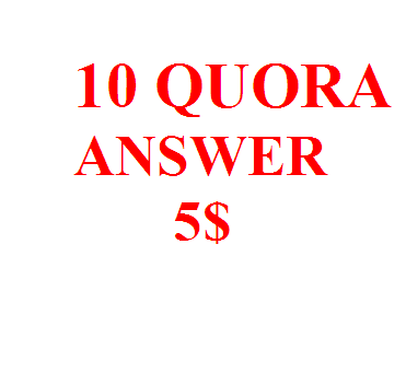 10 high quality quora answer posting with your  keyword And Url
