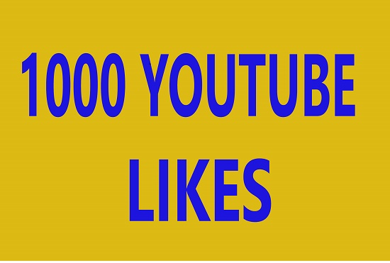 Give you 1 k youtube like only 5$