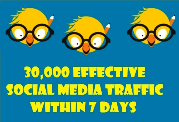 Drive 30,000 Effective Social Media traffic Within 7 Days