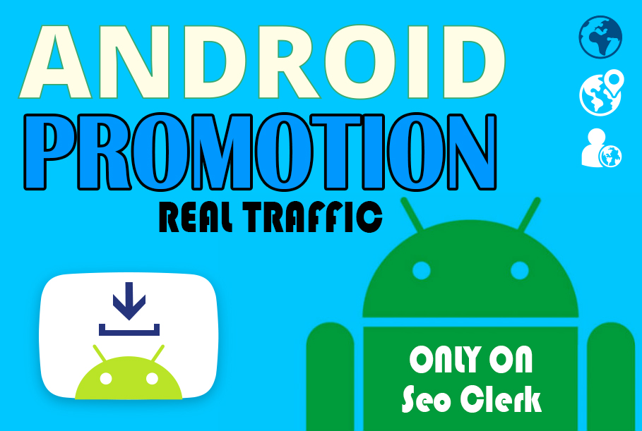Get your app promoted with 50 android installs