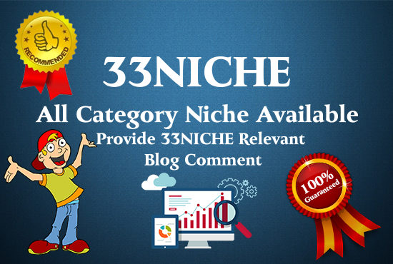 Do 33 Niche Relevant Blog Comment Service