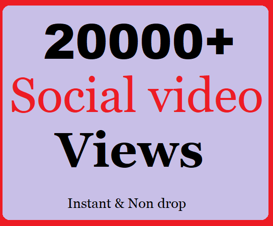 10000+ Social views or 500+ Likes very fast and Instant Start