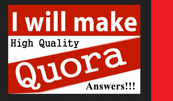 Fast promotion your website on 20 Quora Answers with live URL