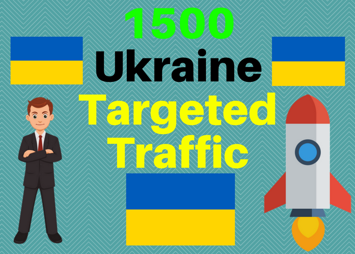 1500 Ukraine TARGETED Human traffic to web or blog site. Get Adsense safe and get Good Alexa rank