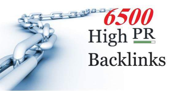 Collect 6500 pr5 back links for your website on google