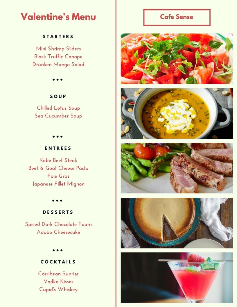 Design Restaurant Menu, Food Menu, Service Menu